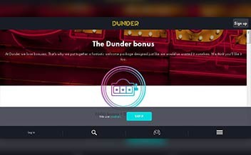 Screenshot 1 Dunder Casino