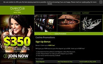 Screenshot 1 Gaming Club Casino