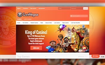 Screenshot 1 LeoVegas Casino
